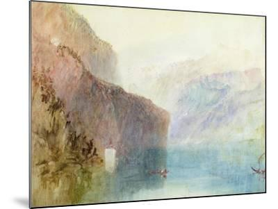 Tell's Chapel, Lake Lucerne, C.1841 (W/C with Pen on Paper)-J^ M^ W^ Turner-Mounted Giclee Print