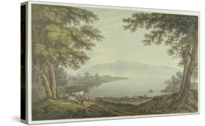 Skiddaw and Derwent Water (Pen and Ink with W/C over Graphite on Wove Paper)-Joseph Farington-Stretched Canvas Print
