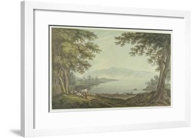 Skiddaw and Derwent Water (Pen and Ink with W/C over Graphite on Wove Paper)-Joseph Farington-Framed Giclee Print