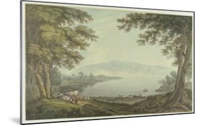 Skiddaw and Derwent Water (Pen and Ink with W/C over Graphite on Wove Paper)-Joseph Farington-Mounted Giclee Print