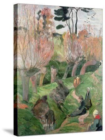 Breton Landscape, 1889-Paul Gauguin-Stretched Canvas Print