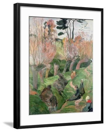 Breton Landscape, 1889-Paul Gauguin-Framed Giclee Print