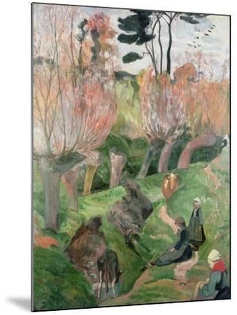 Breton Landscape, 1889-Paul Gauguin-Mounted Giclee Print
