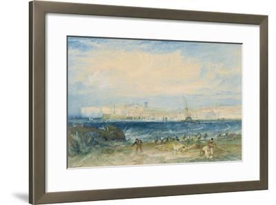 Margate, C.1822 (W/C and Scraping Out on Wove Paper)-J^ M^ W^ Turner-Framed Giclee Print