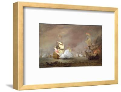 Sea Battle of the Anglo-Dutch Wars, c.1700-Willem Van De, The Younger Velde-Framed Premium Giclee Print