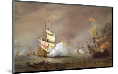 Sea Battle of the Anglo-Dutch Wars, c.1700-Willem Van De, The Younger Velde-Mounted Premium Giclee Print