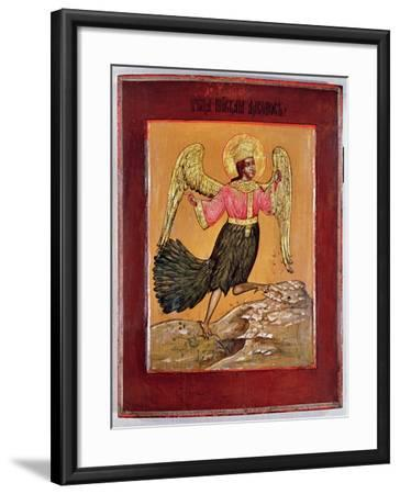 Icon Depicting the Bird of Paradise (Oil on Panel)-Russian-Framed Giclee Print