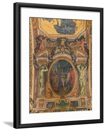 Judicial Reformation in 1667, Ceiling Painting from the Galerie Des Glaces-Charles Le Brun-Framed Giclee Print