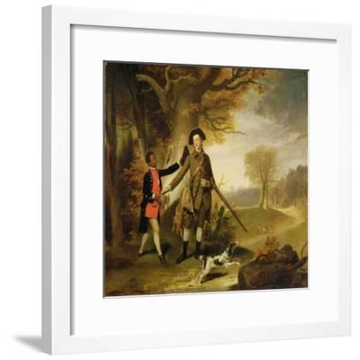 The Third Duke of Richmond (1735-1806) Out Shooting with His Servant, c.1765-Johann Zoffany-Framed Giclee Print