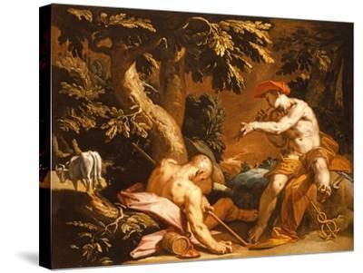 Mercury and Argus-Abraham Bloemaert-Stretched Canvas Print