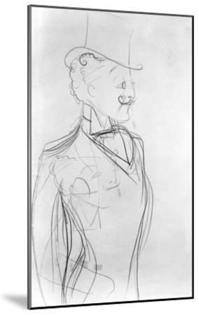 Portrait of Boni De Castellane (Pencil on Paper)-Sem-Mounted Giclee Print