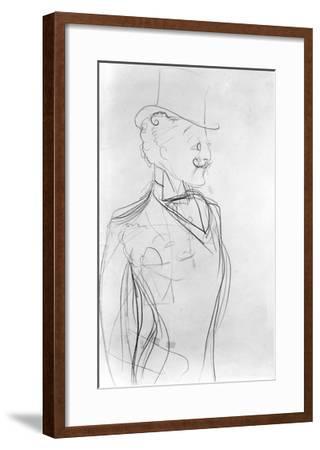 Portrait of Boni De Castellane (Pencil on Paper)-Sem-Framed Giclee Print