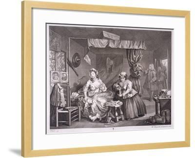 A Harlot's Progress, Plate Iii, from 'The Original and Genuine Works of William Hogarth'-William Hogarth-Framed Giclee Print