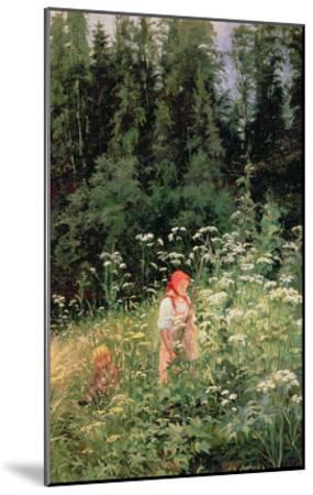 Girl Among the Wild Flowers, 1880-Olga Antonova Lagoda-Shishkina-Mounted Giclee Print