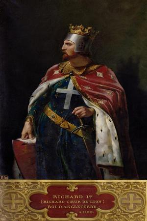 Richard I the Lionheart (1157-1199) King of England, 1841-Merry Joseph Blondel-Stretched Canvas Print