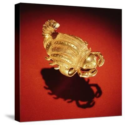 Asante Scorpion Ring, from Ghana (Gold)- African-Stretched Canvas Print