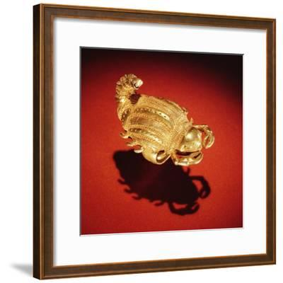 Asante Scorpion Ring, from Ghana (Gold)- African-Framed Giclee Print