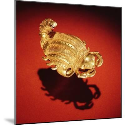 Asante Scorpion Ring, from Ghana (Gold)- African-Mounted Giclee Print