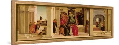 Scenes from the Story of Esther (Oil on Panel)-Filippino Lippi-Framed Stretched Canvas Print