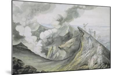 The Ascent of Vesuvius, 1785-91 (W/C over Graphite on Paper)-Henry Tresham-Mounted Giclee Print