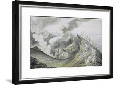 The Ascent of Vesuvius, 1785-91 (W/C over Graphite on Paper)-Henry Tresham-Framed Giclee Print