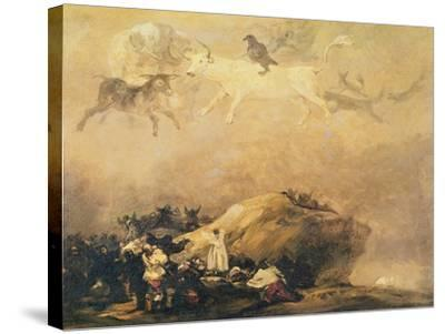 Capriccio Scene: Animals in the Sky-Francisco de Goya-Stretched Canvas Print