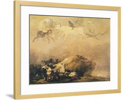 Capriccio Scene: Animals in the Sky-Francisco de Goya-Framed Giclee Print