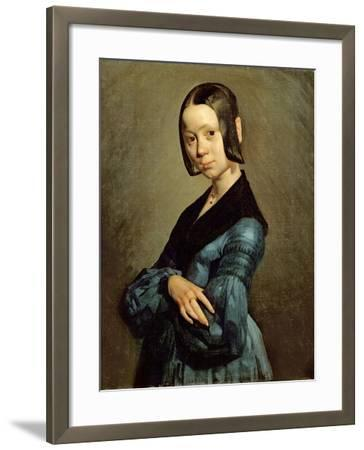 Pauline Ono (1821-44) in Blue, 1841-42-Jean-Fran?ois Millet-Framed Giclee Print