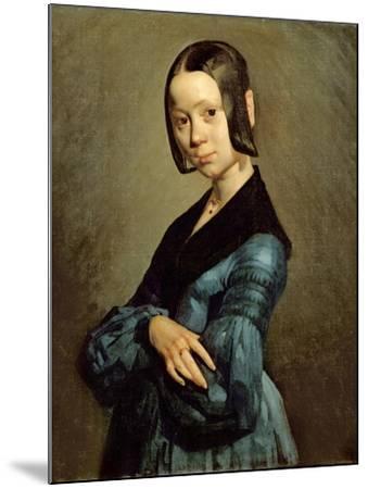 Pauline Ono (1821-44) in Blue, 1841-42-Jean-Fran?ois Millet-Mounted Giclee Print
