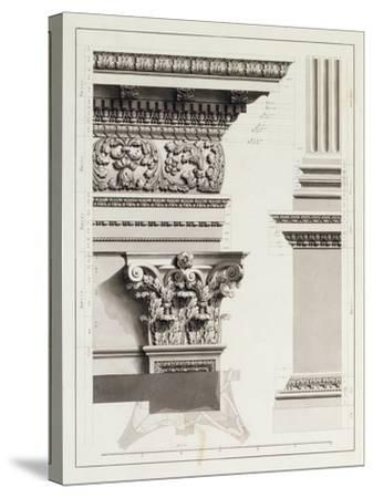 Elevation of Pedestal Entablature of the Arch at Tripoli-James Bruce-Stretched Canvas Print