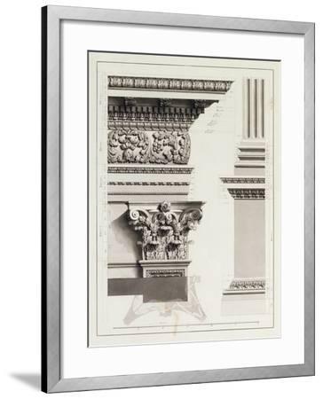 Elevation of Pedestal Entablature of the Arch at Tripoli-James Bruce-Framed Giclee Print