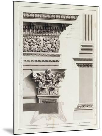 Elevation of Pedestal Entablature of the Arch at Tripoli-James Bruce-Mounted Giclee Print