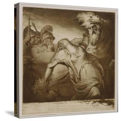 King Lear and Cordelia, 1776 (Etching and Aquatint with India Ink)-James Barry-Stretched Canvas Print