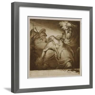 King Lear and Cordelia, 1776 (Etching and Aquatint with India Ink)-James Barry-Framed Giclee Print