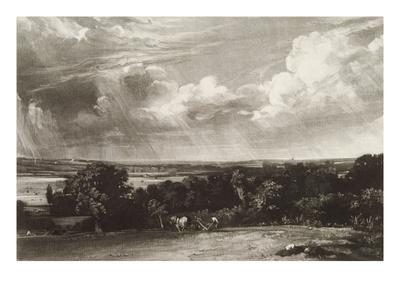 Summerland, Engraved by David Lucas (1802-81) (Mezzotint)-John Constable-Framed Giclee Print