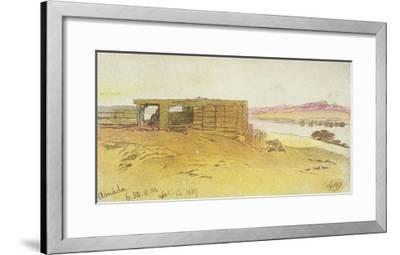 Amada, 6:50Am, 12 February 1867,(Pen and Brown Ink with Wc over Graphite)  Giclee Print by Edward Lear | Art com