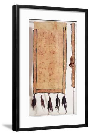 Saddle Blanket Covered with Chinese Silk, 5th- 4th Century BC (Wool, Silk, Gold and Leather)- Altaic-Framed Giclee Print