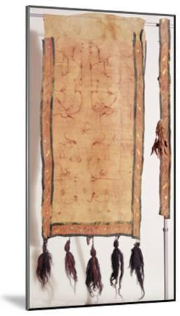 Saddle Blanket Covered with Chinese Silk, 5th- 4th Century BC (Wool, Silk, Gold and Leather)- Altaic-Mounted Giclee Print