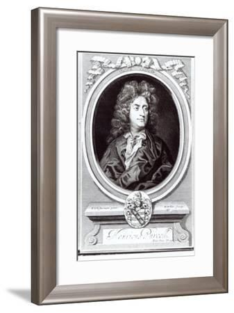 Portrait of Henry Purcell (1659-95), English Composer, Engraved by R. White, 1695 (Engraving)-Johann Closterman-Framed Giclee Print