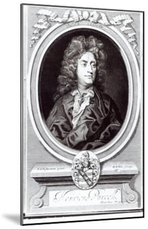 Portrait of Henry Purcell (1659-95), English Composer, Engraved by R. White, 1695 (Engraving)-Johann Closterman-Mounted Giclee Print