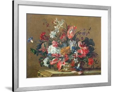 Basket of Flowers-Jean-Baptiste Monnoyer-Framed Giclee Print