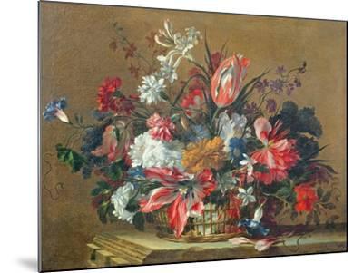 Basket of Flowers-Jean-Baptiste Monnoyer-Mounted Giclee Print