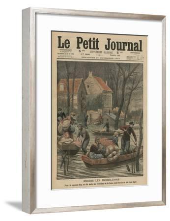 Floods Again, Illustration from 'Le Petit Journal', Supplement Illustre, 27th November 1910-French Photographer-Framed Giclee Print