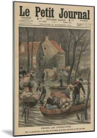 Floods Again, Illustration from 'Le Petit Journal', Supplement Illustre, 27th November 1910-French Photographer-Mounted Giclee Print