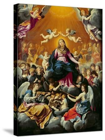 Coronation of the Virgin-Guido Reni-Stretched Canvas Print