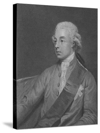 Frederick Howard, 5th Earl of Carlisle, Engraved by John Keyse Sherwin, 1782 (Engraving)-George Romney-Stretched Canvas Print