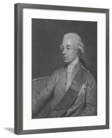 Frederick Howard, 5th Earl of Carlisle, Engraved by John Keyse Sherwin, 1782 (Engraving)-George Romney-Framed Giclee Print