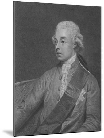 Frederick Howard, 5th Earl of Carlisle, Engraved by John Keyse Sherwin, 1782 (Engraving)-George Romney-Mounted Giclee Print