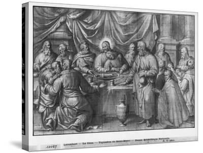 Life of Christ, the Last Supper, Preparatory Study of Tapestry Cartoon-Henri Lerambert-Stretched Canvas Print