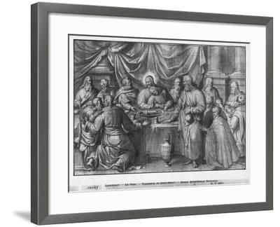 Life of Christ, the Last Supper, Preparatory Study of Tapestry Cartoon-Henri Lerambert-Framed Giclee Print